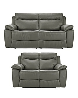 Savona Leather Recliner 3 plus 2 Sofa