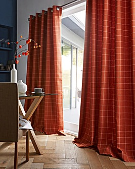 furn. Ellis Windowpane Check Curtains