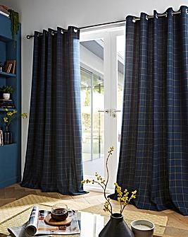 furn. Ellis Windowpane Check Curtains