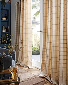 furn. Ellis Windowpane Check Eyelet Curtains