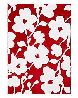 Bold Floral Carved Rug