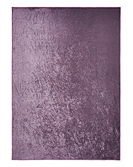 Plain Crushed Velvet Rug Large
