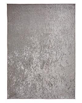 Plain Crushed Velvet Rug