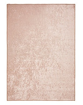 Plain Crushed Velvet Rug