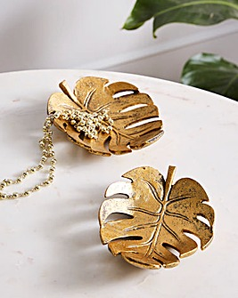 Leaf Trinket Dish Set of 2