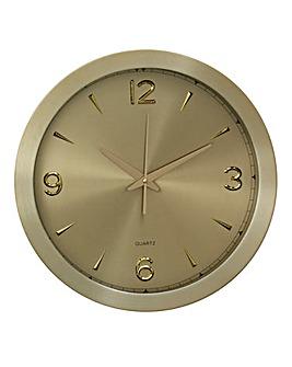 Elko Aluminium Wall Clock Gold