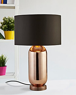 Darcy Copper Glass Table Lamp
