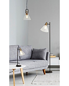 Mason Industrial Glass Table Lamp