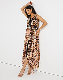 Joanna Hope Tie Front Layered Dress