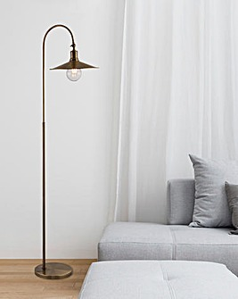 Kenzo Industrial Exposed Bulb Floor Lamp