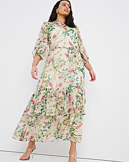 Joanna Hope Floral Print Maxi Dress