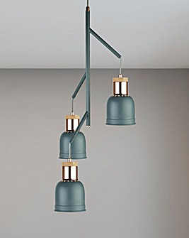 Brooklyn Industrial Three Easy Fit Pendant