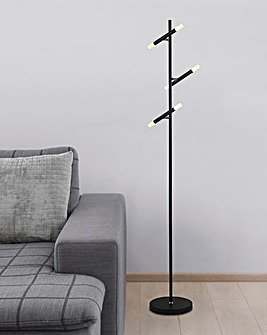 Carlton Black LED Three Light Floor Lamp