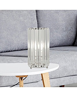 Tia Glass Column Table Lamp