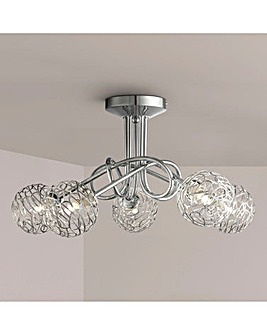 Twist Five Light Ceiling Fitting