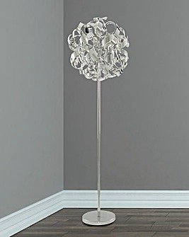 Chrome Curls Floor Lamp