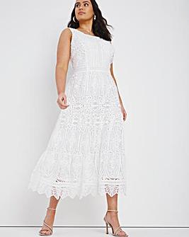 Joanna Hope Linear Lace Prom Dress