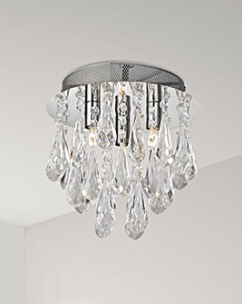 Imogen Chrome Three Light Ceiling Fitting
