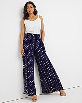 Joanna Hope Foil Print Wide Leg Trousers