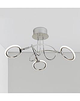 Luna Three Light LED Ceiling Fitting