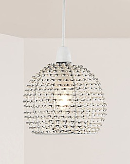 Everly Small Twist Metal Pendant