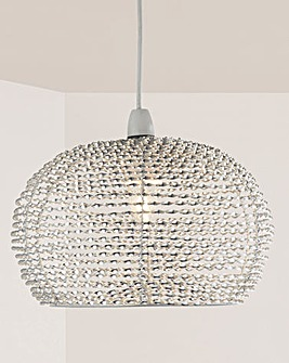 Everly Large Twist Metal Pendant