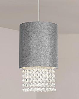 Bella Glitter Silver Pendant