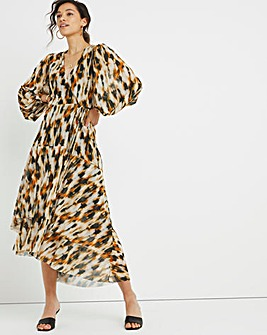 Joanna Hope Mesh Leopard Dress