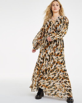 Joanna Hope Mesh Leopard Dress