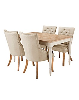 Charingworth Table 4 Isabella Chairs