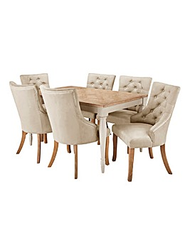Charingworth Table 6 Isabella Chairs