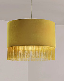 Ochre Velvet Fringed Easy Fit Shade