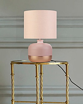 Vermont Pink & Rose Gold Table Lamp