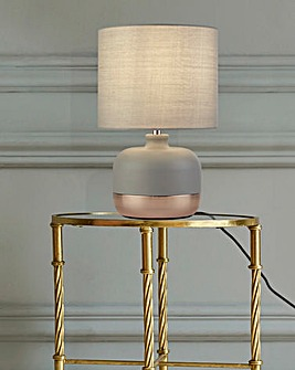 Vermont Grey & Copper Table Lamp