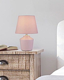 Boston Matt Pink Ceramic Table Lamp