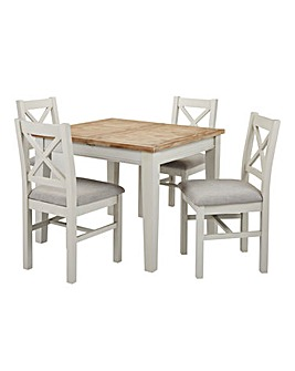 Ashdawn Extending Dining Table 4 Chairs