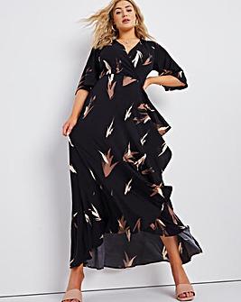 Joanna Hope Print ITY Ruffle Dress