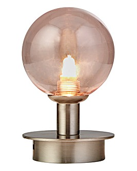 Globe Blush Glass Table Lamp