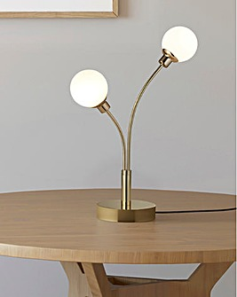 Healy Globe Two Light Table Lamp