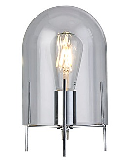 Clear Cloche Shade Table Lamp
