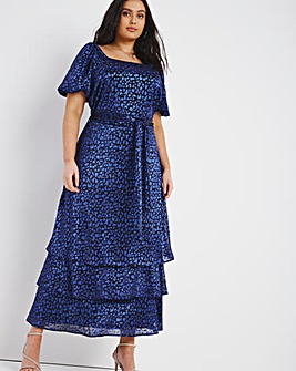 Joanna Hope Animal Print Plisse Dress