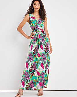 Joanna Hope Print ITY Ruffle Dress