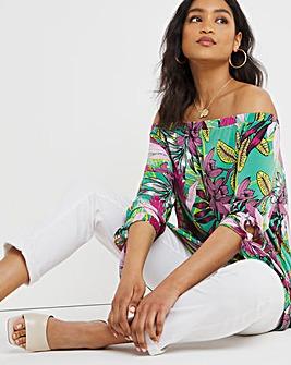 Joanna Hope Print ITY Bardot Tunic