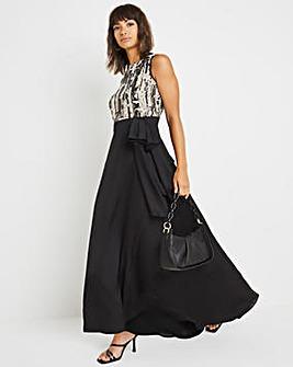 Joanna Hope Contrast Sequin Top Dress