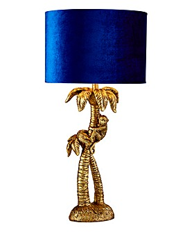 Monkey Palm Tree Table Lamp