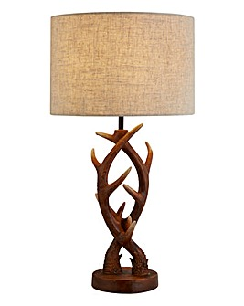 Antler Wood Effect Table Lamp
