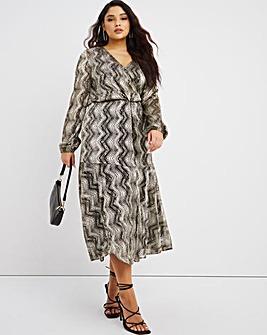 Joanna Hope Plisse Dress