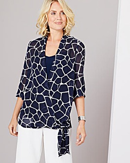 Julipa Wrap Front Blouse and Cami
