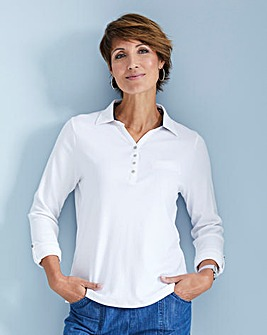 Julipa Leisure Polo Top with Print