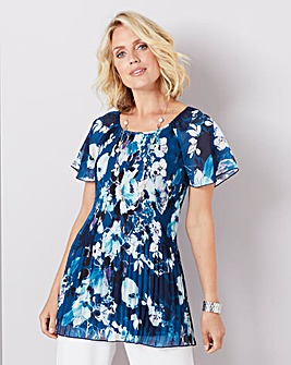 Julipa Chiffon Pleated Tunic
